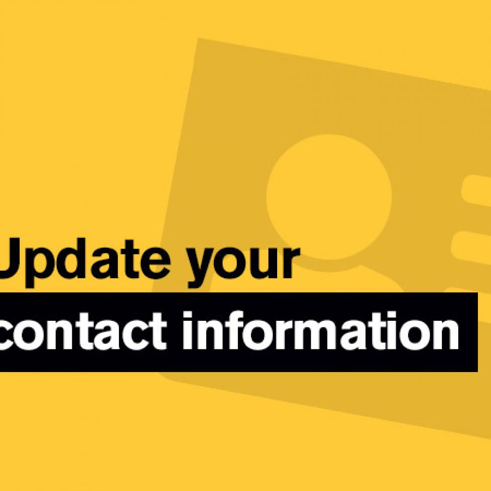 update your contact information